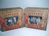 Souvenir Brooches in Original Packaging
