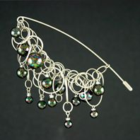 Green Marble Bubble Chain Pin