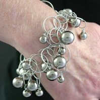 Platinum Bubbles on Matte Bracelet