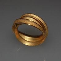18 ct gold Curl ring (double)