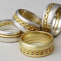 2D Wedding bands