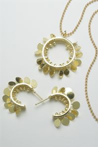 Fiona DeMarco Spike small hoop earrings & pendant