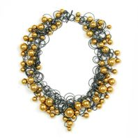 Gold Bubble Neckpiece