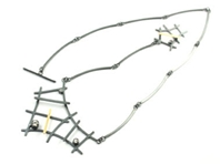 'Black and gold' rutile formation necklace