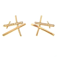 'Fine formations' chunky rutile studs pave set diamonds