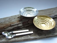 'Against the grain series' Condiment dishes and spoons