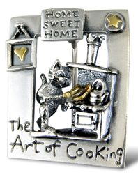 'The Art of Cooking' brooch