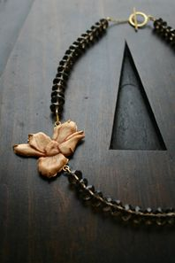 Anemone Carved Necklace...