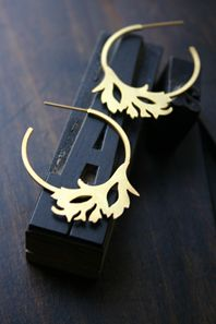 Anemone Hoop Earrings...
