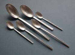 Silver oval spoons