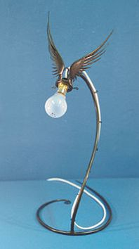 Winged table lamp