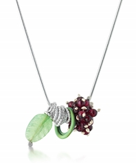 Berries Pendant with Aventurine and Garnet