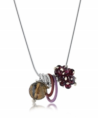 Berried Pendant with Smoky Quartz and Garnet