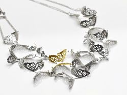 'Butterfly Effect' Necklace with Gold