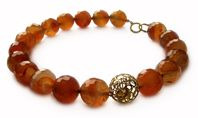 Carnelian Assymetric Necklace