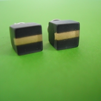 mini cube earrings