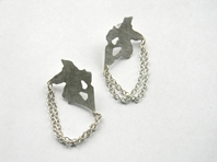 Inkblot earrings