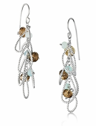 Cluster Earrings with Amazonite and Avneturine
