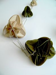 Cream and Olive Necklace