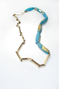 My Seoul turquoise and gold necklace
