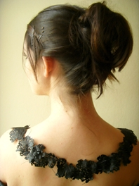 Lace Neckline, Back View