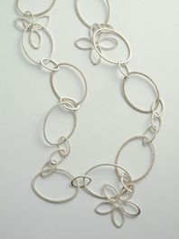 Flowers & Ovals Wrap-Over Necklace