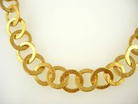 gold plated hammered chain