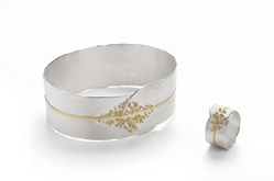 granulated cuff and ring