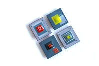 'Homage to the Square' Brooches