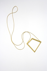 Pendant: Gold-plated silver