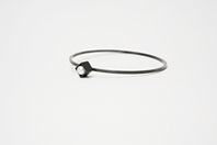 Bangle: Oxidized silver, freshwater pearl (colour may vary)