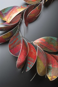 (Detail) Large Dyed Aluminium Necklace