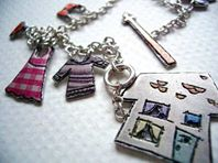 'Washing with Mum' charm bracelet