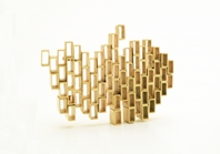 Stacked Brooch #2
