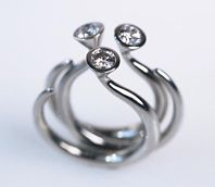 Torque rings - platinum and diamond.