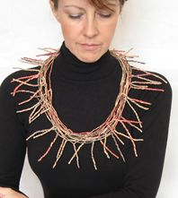 Red Twiggy neckpiece