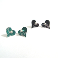 Rococo Heart Stud Earrings
