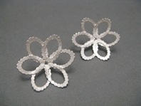 Ruffled Daisy Earrings