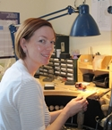 Shona in her studio