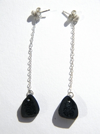 Bone drop earrings