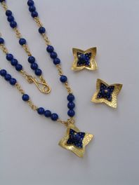 18ct Gold Necklace and Earrings
