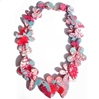 aqua pink Garland necklace