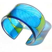 Lime Turq. Tree leaf Cuff