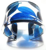 Blue 3 leaf 45mm Cuff