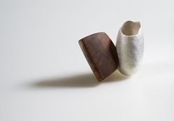 Vessel Brooch with wood
