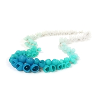 Plume Necklace - Sea Green Fade