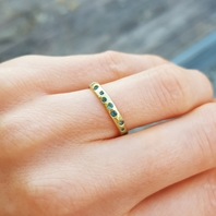 18ct Yellow Gold set with Tourmalines