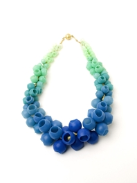 Blue/green fade Plume Necklace