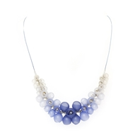 Plume Half Cluster Necklace