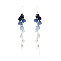 Single Cascade Earrings - Navy Fade